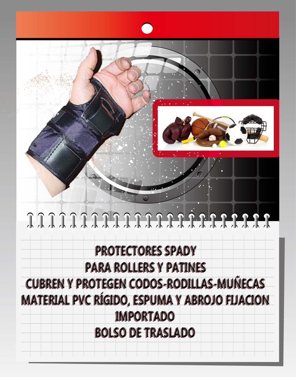 protectores spady para rollers y patines
